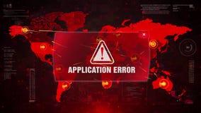 Podaniowy błędu ostrzeżenia ostrzeżenia atak na Parawanowej Światowej mapie ilustracji