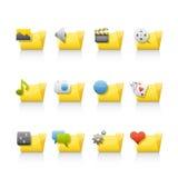 podaniowy falcówek ikony set Obrazy Stock