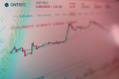 Podaniowy interfejs dla ontologii cryptocurrency handlu Fotografia ekran komputerowy lotność cryptocurrencies ilustracja wektor