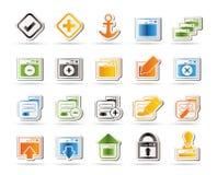 podaniowy komputerowy ikony programowania serwer Obrazy Royalty Free