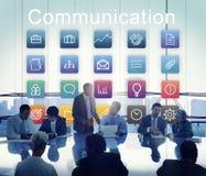 Podaniowy komunikaci biznesowej grafiki pojęcie Zdjęcie Royalty Free