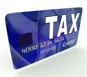 Podatek Na Kredytowej karcie debetowej Pokazuje podatku powrót IRS Obraz Stock