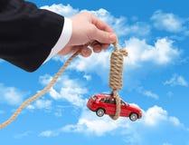 Podatek na samochodzie w postaci powieszenia zdjęcie stock