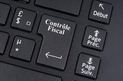 Podatek rewizja pisać w Francuskim na odrobina komputerowa klawiatura ilustracji