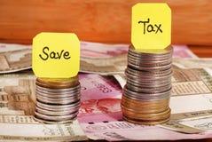 Podatków savings obrazy royalty free
