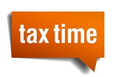 Podatku czasu mowy pomarańczowy bąbel Fotografia Royalty Free