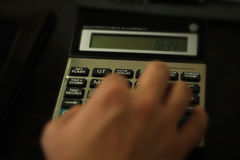 Podatku kalkulator Obraz Stock