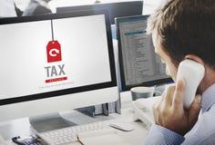 Podatku zwrota dochód Płaci Celnego oświadczenia wynagrodzenia pojęcie Obraz Stock