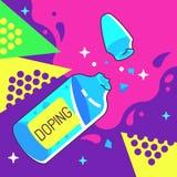 Podawać doping ampułki ilustrację royalty ilustracja
