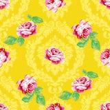 Podławy szyk róży adamaszka wzór Obraz Royalty Free