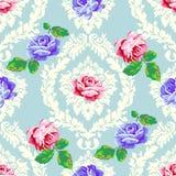 Podławy szyk róży adamaszka wzór Obraz Stock