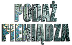 Podaz Pieniadza - Money Supply. 100 PLN or Polish Zloty texture. Royalty Free Stock Images