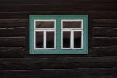 Podbiel village in Orva region. Traditional log cabin in Orava region, Slovakia stock photography
