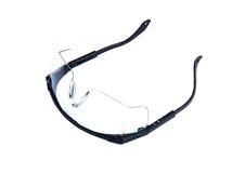 Podbitych Oczu szkła Odizolowywający na bielu Zdjęcie Stock