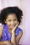 podbródka dziewczyny ręki target2007_0_ Obraz Stock