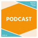 Podcast - εικονίδιο για τον Ιστό και κινητό app Στοκ Φωτογραφία
