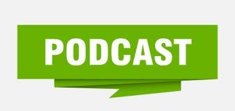 Podcast ilustração do vetor