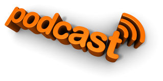 Podcast 3D Text Design Stock Photography