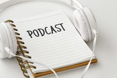 Podcast concept royalty free stock photos