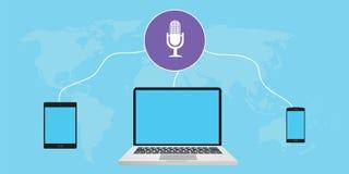 Podcast de escuta Imagem de Stock Royalty Free
