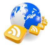 Podcast de las noticias de mundo Fotografía de archivo