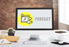 Podcast Digital Device Social Media Concept Royalty Free Stock Photos