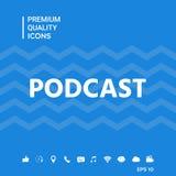 Podcast - icona per il web ed il cellulare app Immagine Stock Libera da Diritti