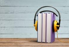 Podcast. Book audio music radio background school Stock Photography