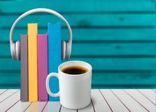 Podcast. Book audio music radio background school Royalty Free Stock Photography