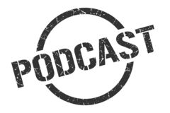podcast stamp royalty free illustration