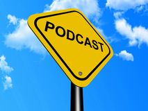 Podcast sign Royalty Free Stock Photo