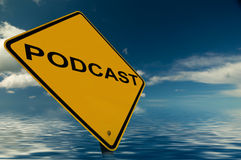 Podcast Sign Stock Image