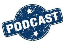 podcast stamp stock illustration