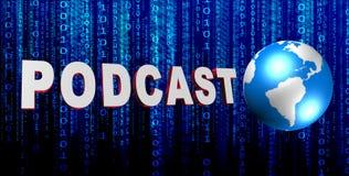Podcast Zeichen stock abbildung