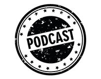 Podcast znaczek Fotografia Stock