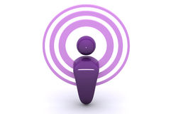 podcasting的无线 皇族释放例证