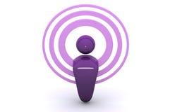 podcasting радиотелеграф Стоковые Фотографии RF