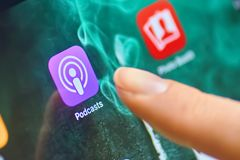 Podcasts icon royalty free stock photos
