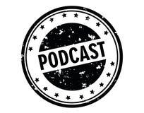 Podcaststämpel Arkivbild