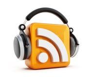 Podcastsymbol stock illustrationer