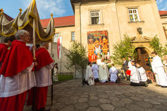 Podczas świętowania uczta Corpus Christi (ciało Chrystus Zdjęcia Stock
