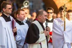Podczas świętowania uczta Corpus Christi (ciało Chrystus) Fotografia Stock