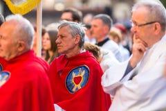 Podczas świętowania uczta Corpus Christi także znać jako korpus językowy Domini, (ciało Chrystus) Fotografia Stock