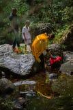 Podczas Chrześcijańskiego sakramentu duchowy narodziny - chrzczenie Zdjęcie Royalty Free