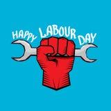 1 pode - dia labour cartaz do dia labour do vetor Foto de Stock