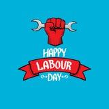 1 pode - dia labour cartaz do dia labour do vetor Fotografia de Stock