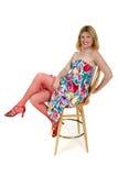 Pode enlatar o assento para trás na cadeira da cadeira Fotos de Stock Royalty Free