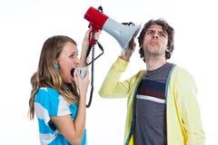 Pode você ouvir minha voz Fotografia de Stock Royalty Free