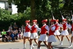Podebrady, Δημοκρατία της Τσεχίας: 18 6 2016: Ομάδα των majorettes, εθνικό πρωτάθλημα της Δημοκρατίας της Τσεχίας Στοκ Εικόνα