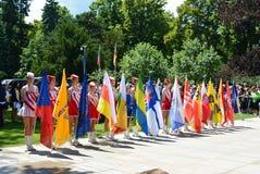 Podebrady, Δημοκρατία της Τσεχίας: 18 6 2016: Ομάδα των majorettes, εθνικό πρωτάθλημα της Δημοκρατίας της Τσεχίας Στοκ φωτογραφία με δικαίωμα ελεύθερης χρήσης